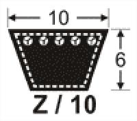 curea de transmisie trapezoidala 10x6