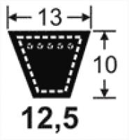 Curele de transmisie trapezoidale 12.5x10