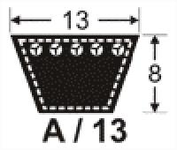 Curele trapezoidale de transmisie 13x8