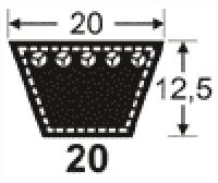 Curele de transmisie trapezoidale 20x12.5
