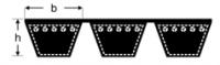 Curele de transmisie trapezoidale multiple