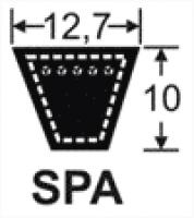 Curele de transmisie trapezoidale 12.7x10, SPA, XPA
