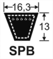 Curele de transmisie trapezoidale 16.3x13, SPB