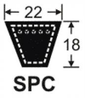 Curele de transmisie trapezoidale 22x18, SPC