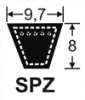 Curele de transmisie trapezoidale 9.7x8, SPZ