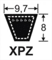 Curele de transmisie trapezoidale 9.7x8, XPZ
