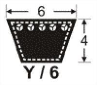 curea de transmisie trapezoidala 6x4