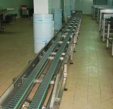 conveioare drepte din inox cu lanturi de transport din inox
